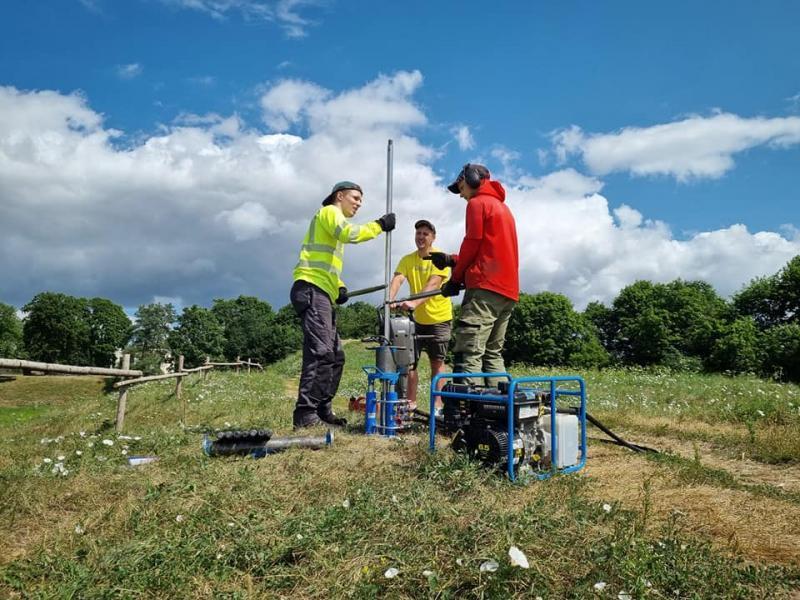 Kernavėje pradėti vykdyti geologiniai tyrimai