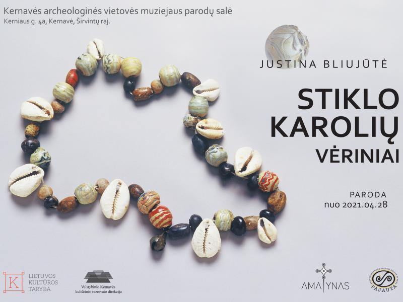 Nauja paroda - Justinos Bliujūtės Stiklo karolių vėriniai