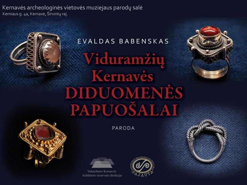 Kviečiame aplankyti naują parodą - Viduramžių Kernavės diduomenės papuošalai