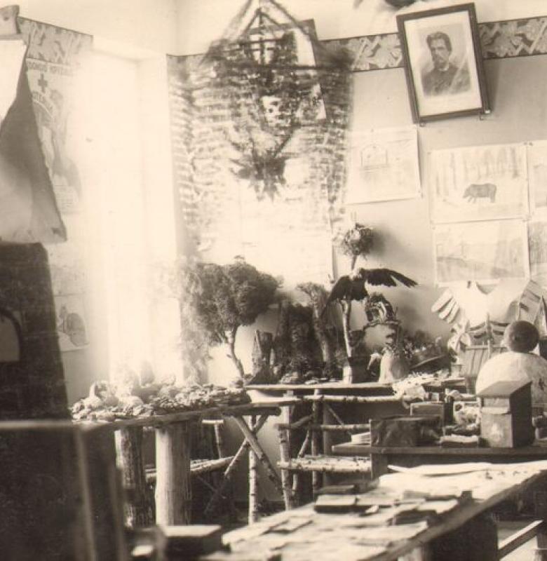 Muziejaus Gamtos ir rankdarbių skyrius Kernavės pradžios mokykloje 1930 – 1948 m.