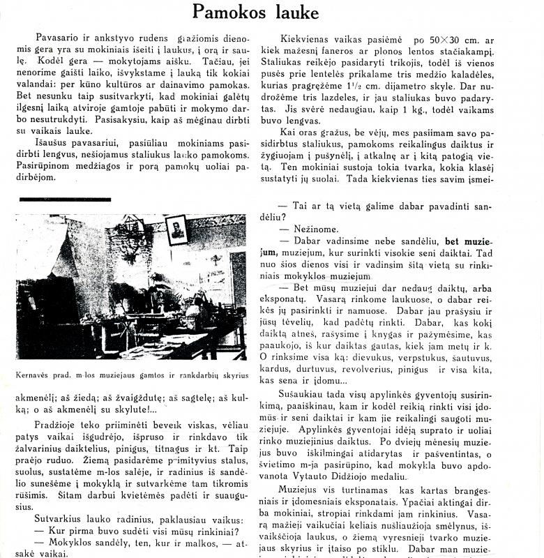 """Ištrauka iš Šiaučiūno straipsnio 1933 m. laikraštyje """"Tautos mokykla"""". """"Tautos mokykla"""" – pedagogikos ir tautinės kultūros laikraštis, dvisavaitinis žurnalas, ėjęs 1933–1940 m. Kaune"""